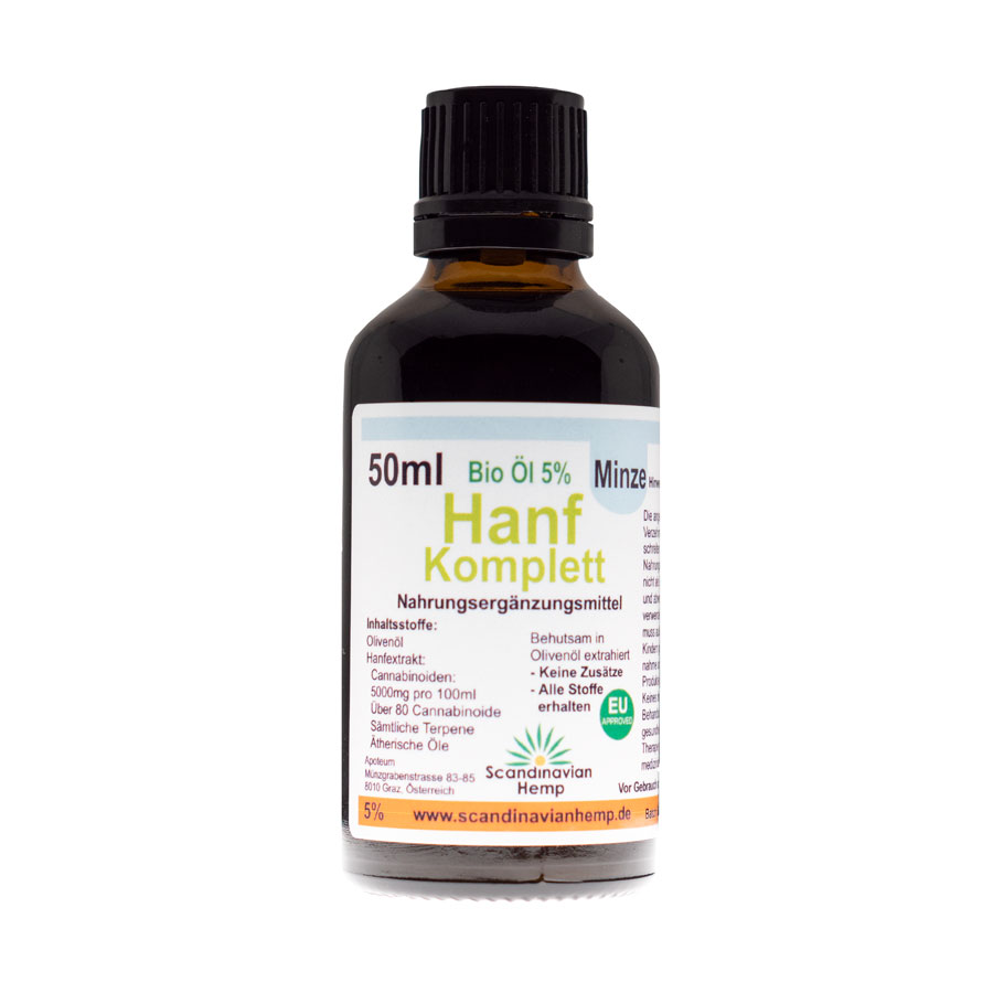 Hanf Komplett Minze 5% 50ml