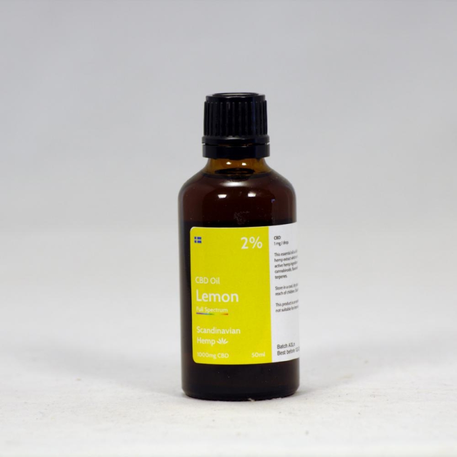2% CBD Oil Lemon 50 ml